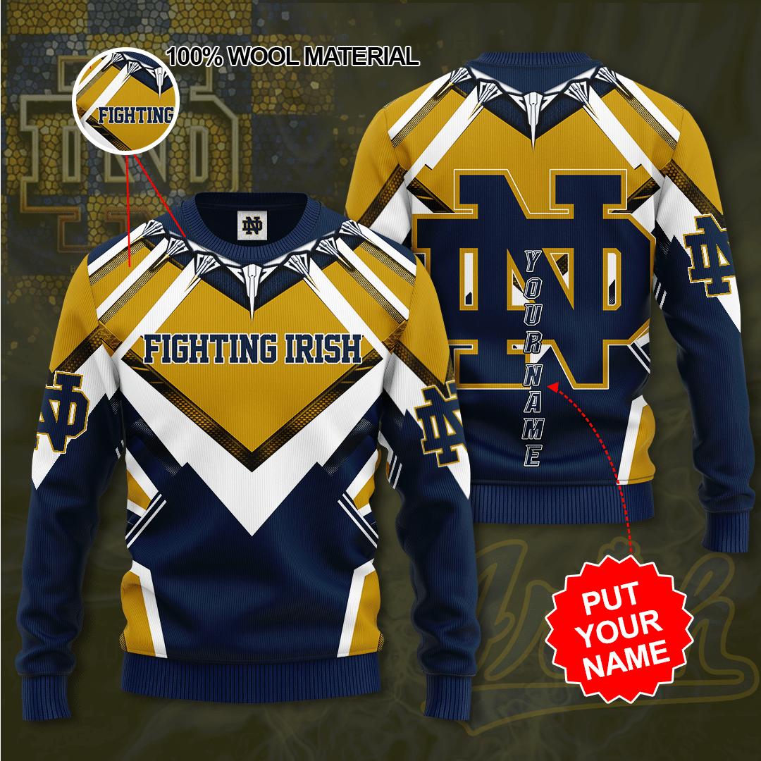 Personalized NOTRE DAME FIGHTING IRISH Sweater