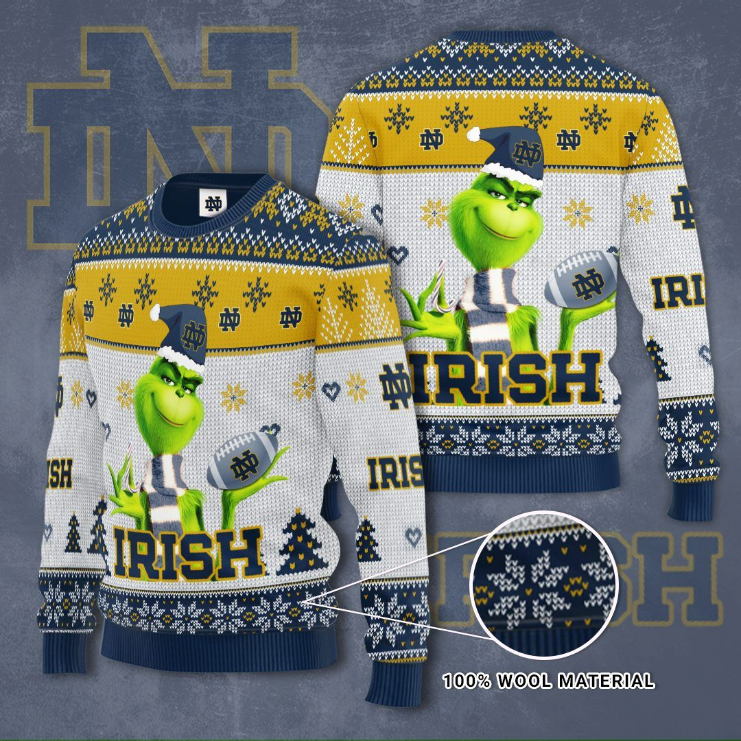 NOTRE DAME FIGHTING IRISH Grinch Christmas Sweater