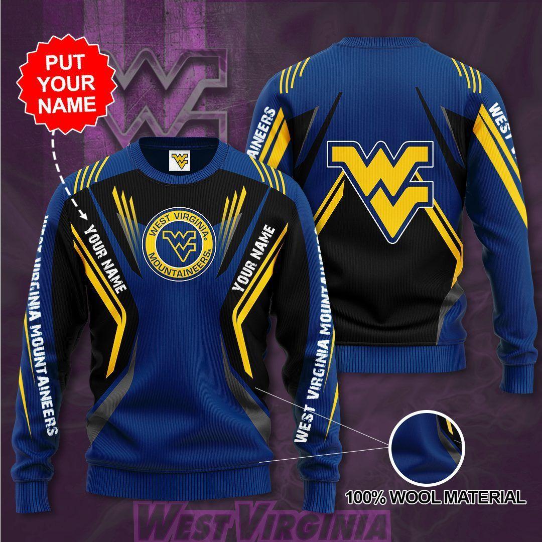 Custom Name West Virginia Mountaineers Sweater