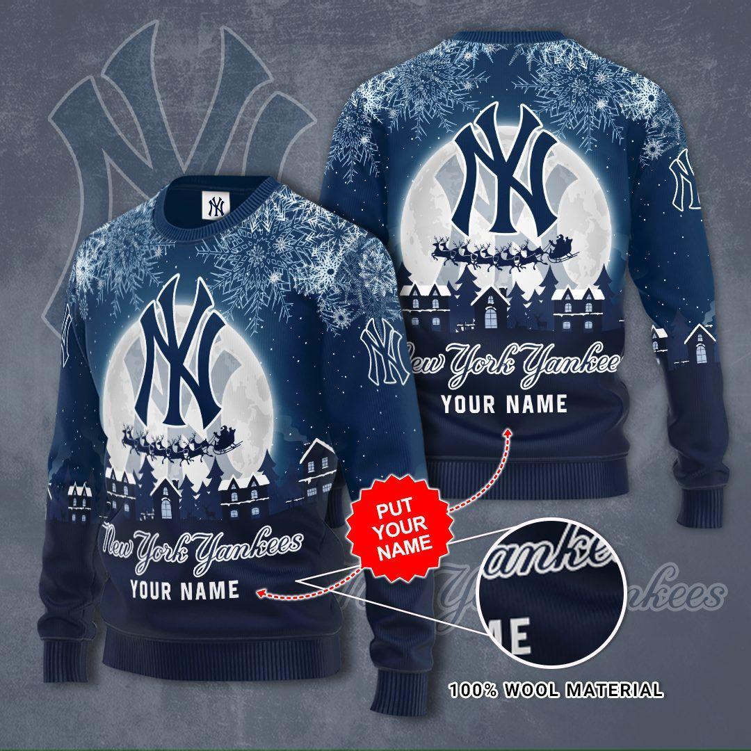 Custom Name New York Yankees Christmas night Sweater
