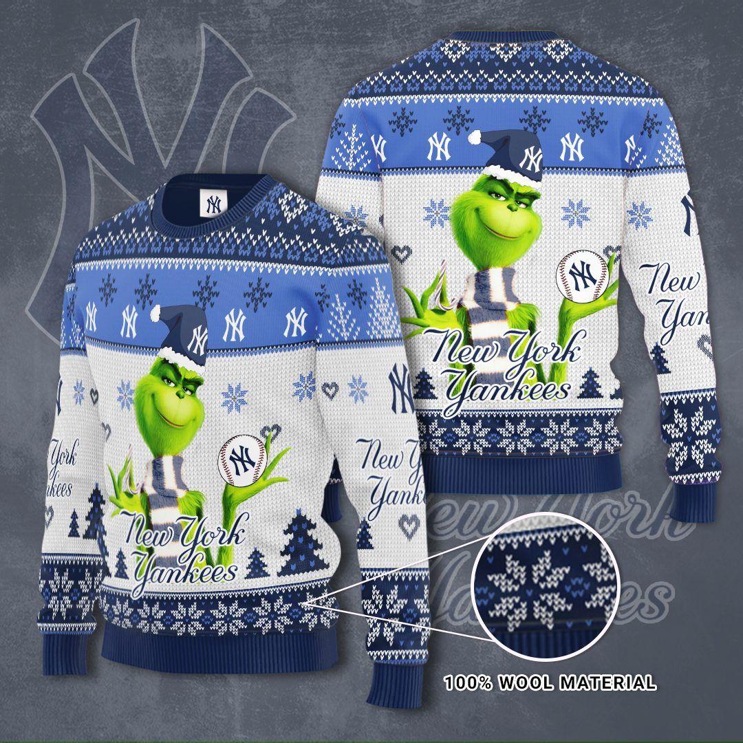 MLB New York Yankees Grinch Christmas Sweater