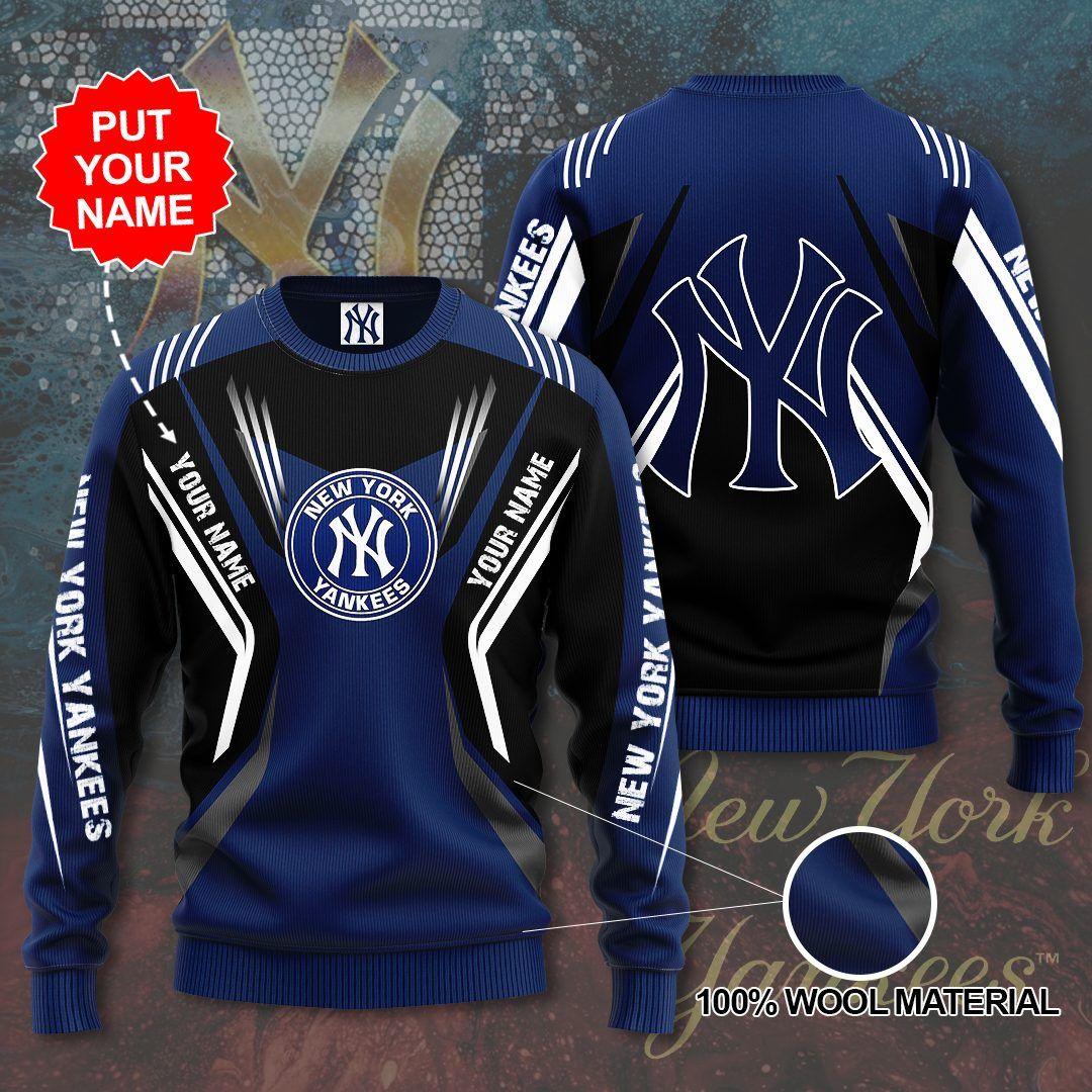 Personalized New York Yankees black Sweater