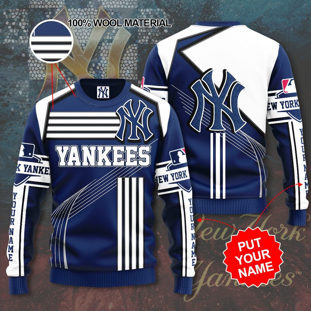 Custom Name New York Yankees Sweater