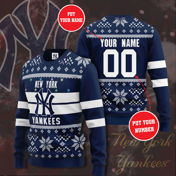 Personalized Name New York Yankees Christmas Sweater