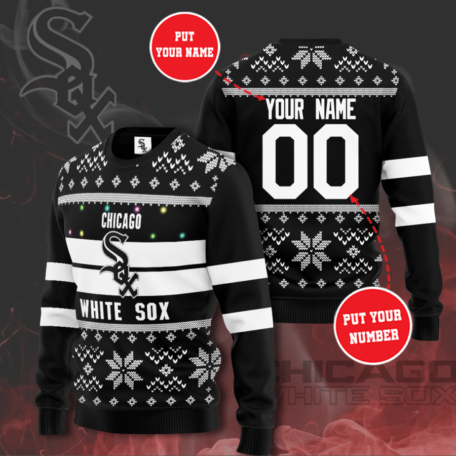 Personalized MLB Chicago White Sox Christmas Sweater