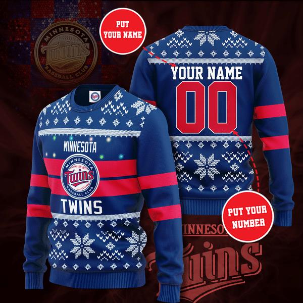 Personalized Minnesota Twins Christmas Sweater