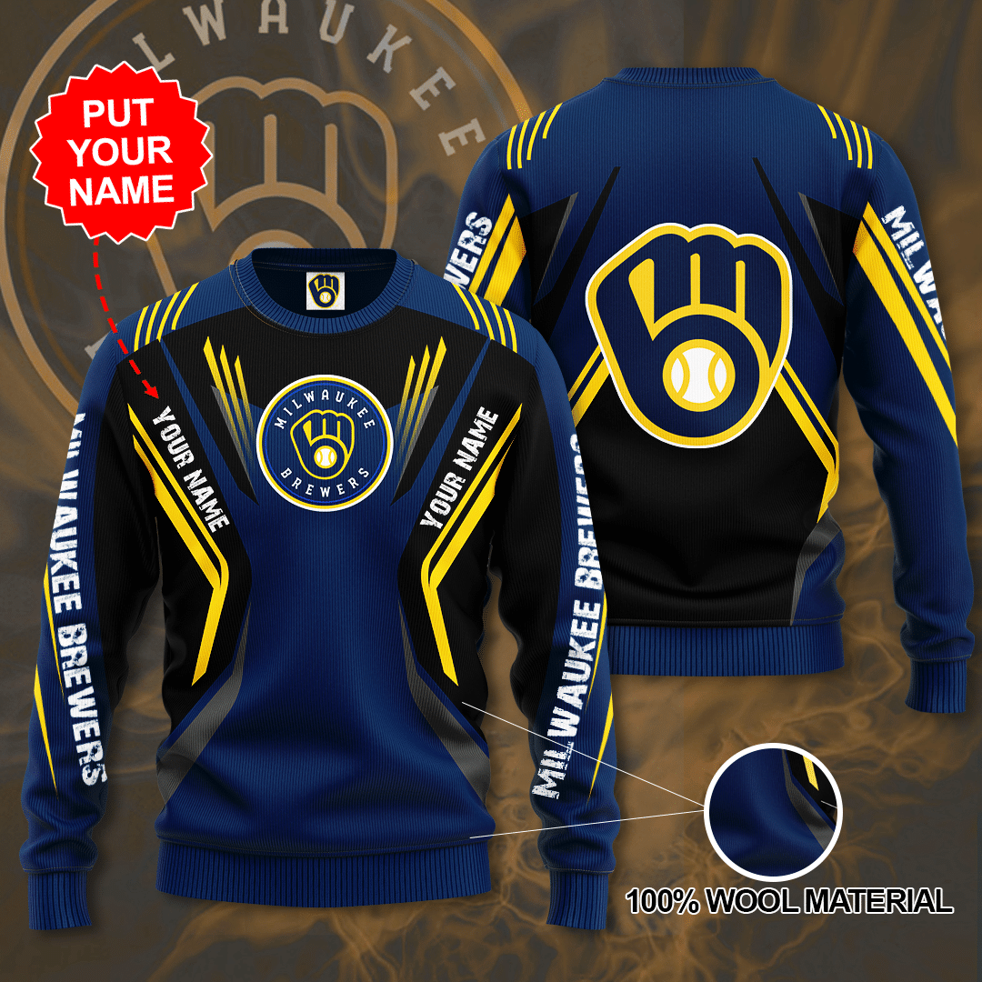 Custom Name Milwaukee Brewers Sweater
