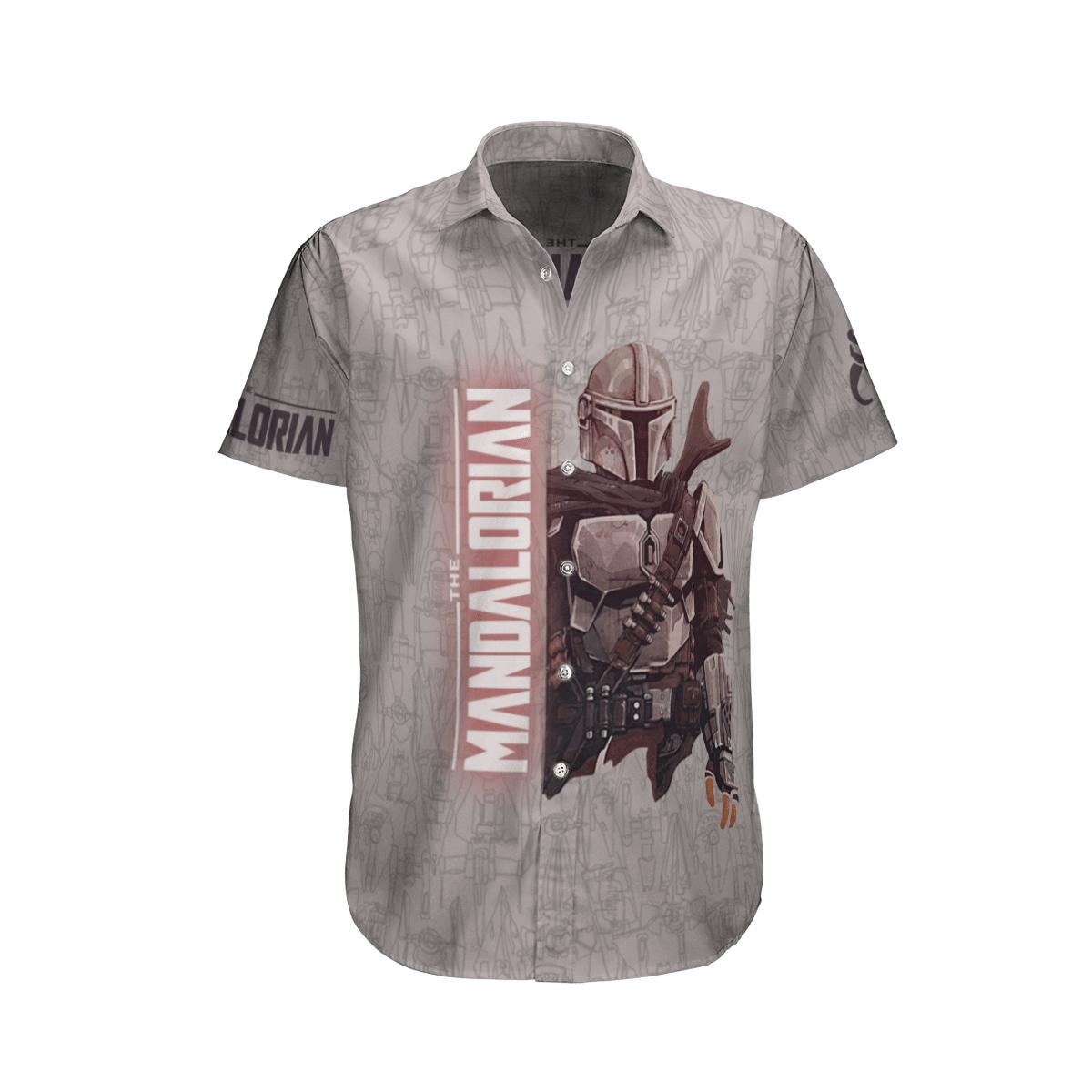 Star Wars Mandalorian Soldier Grey Hawaiian Shirt
