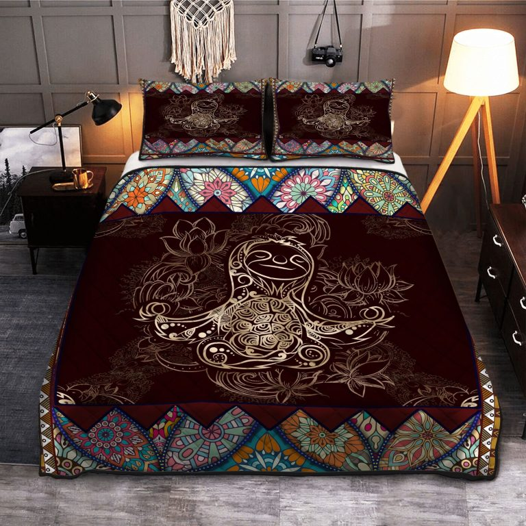 Sloth Mandala Yoga Quilt Bedding Set