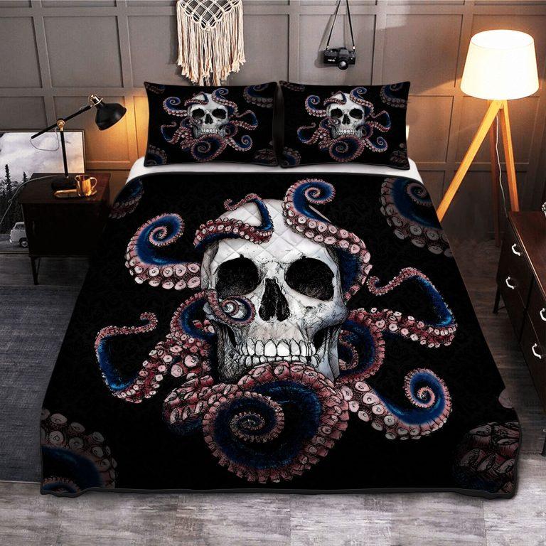 Kraken Skull Quilt Bedding Set