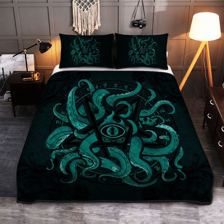 Kraken Elder Sign Pentagram Quilt Bedding Set