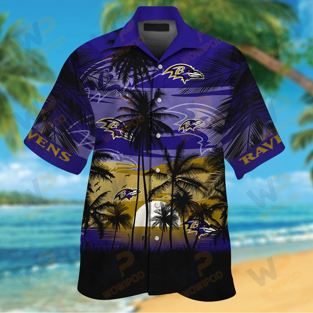NFL Baltimore Ravens Tropical Hawaiian Shirt