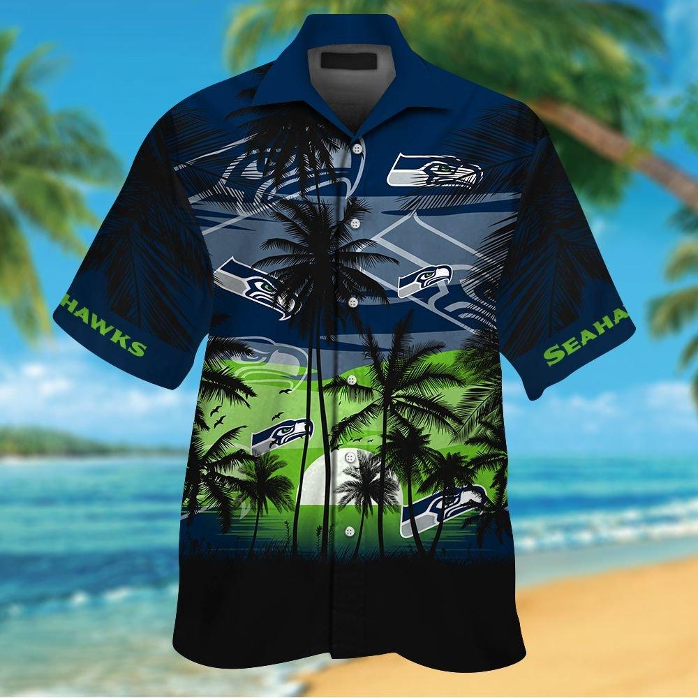 NFL Seattle Seahawks Tropical Hawaiian Shirt