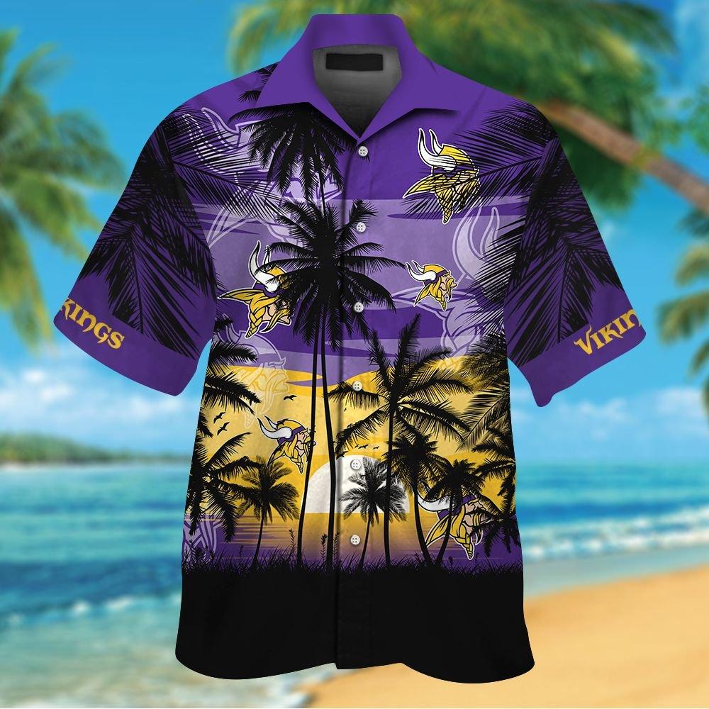 NFL Minnesota Vikings Tropical Hawaiian Shirt