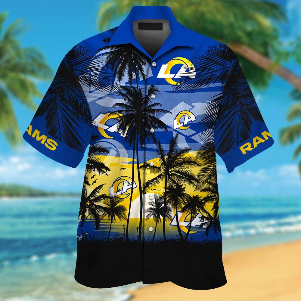 NFL Los Angeles Rams Tropical Hawaiian Shirt
