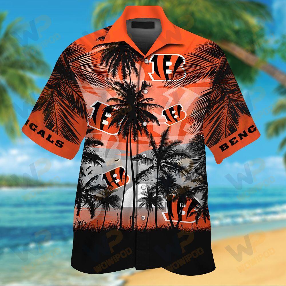NFL Cincinnati Bengals Tropical Hawaiian Shirt