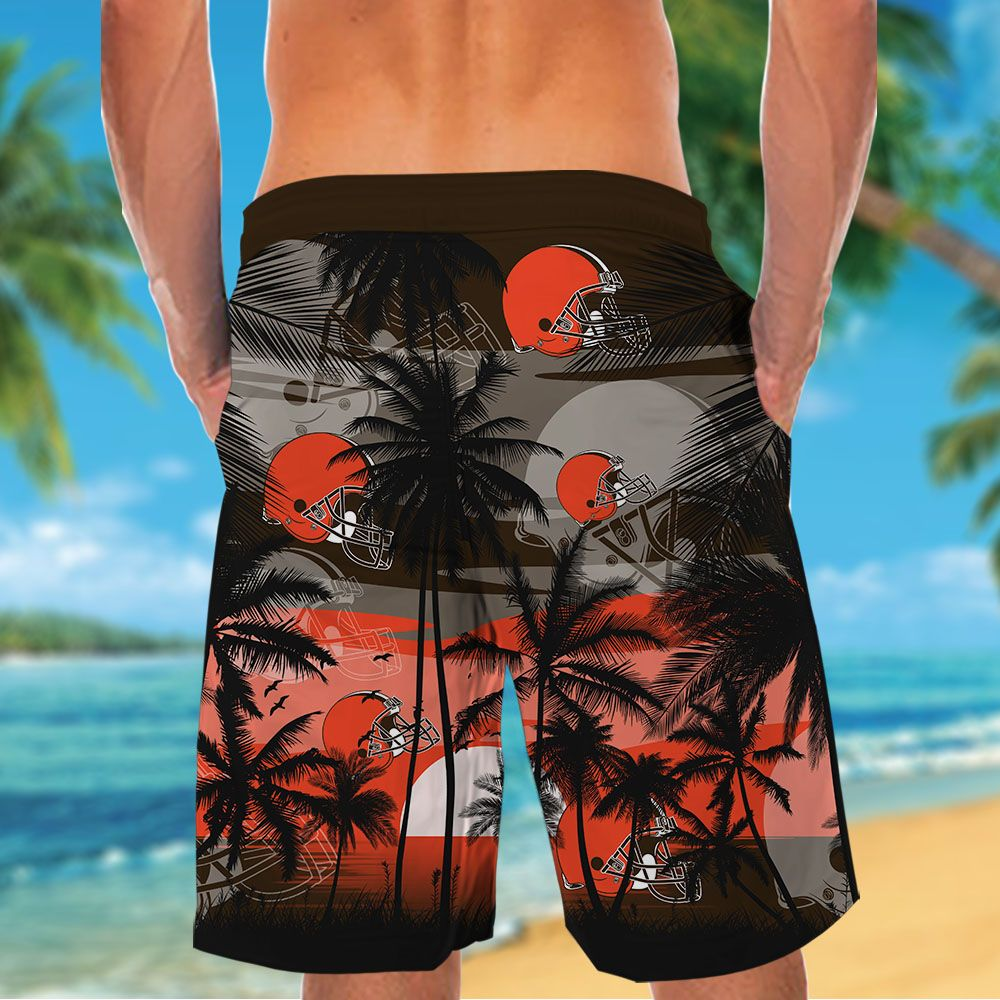 NFL Cleveland Browns Tropical Hawaiian Shirt
