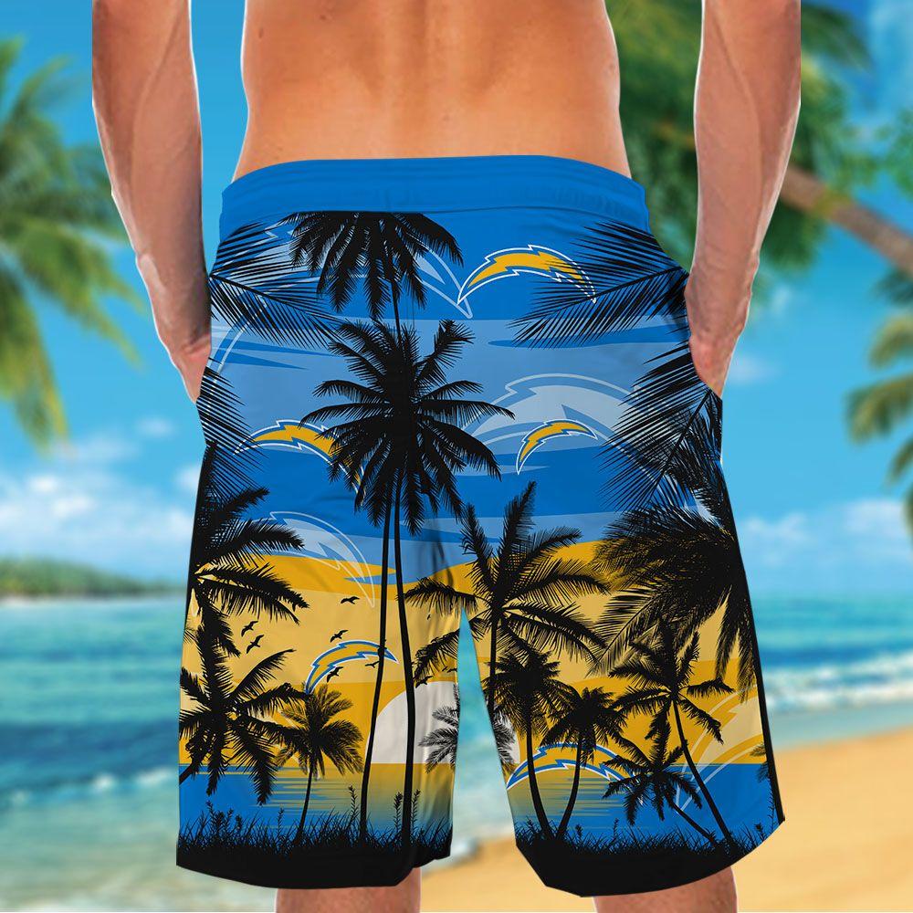NFL Los Angeles Chargers Tropical Hawaiian Shirt