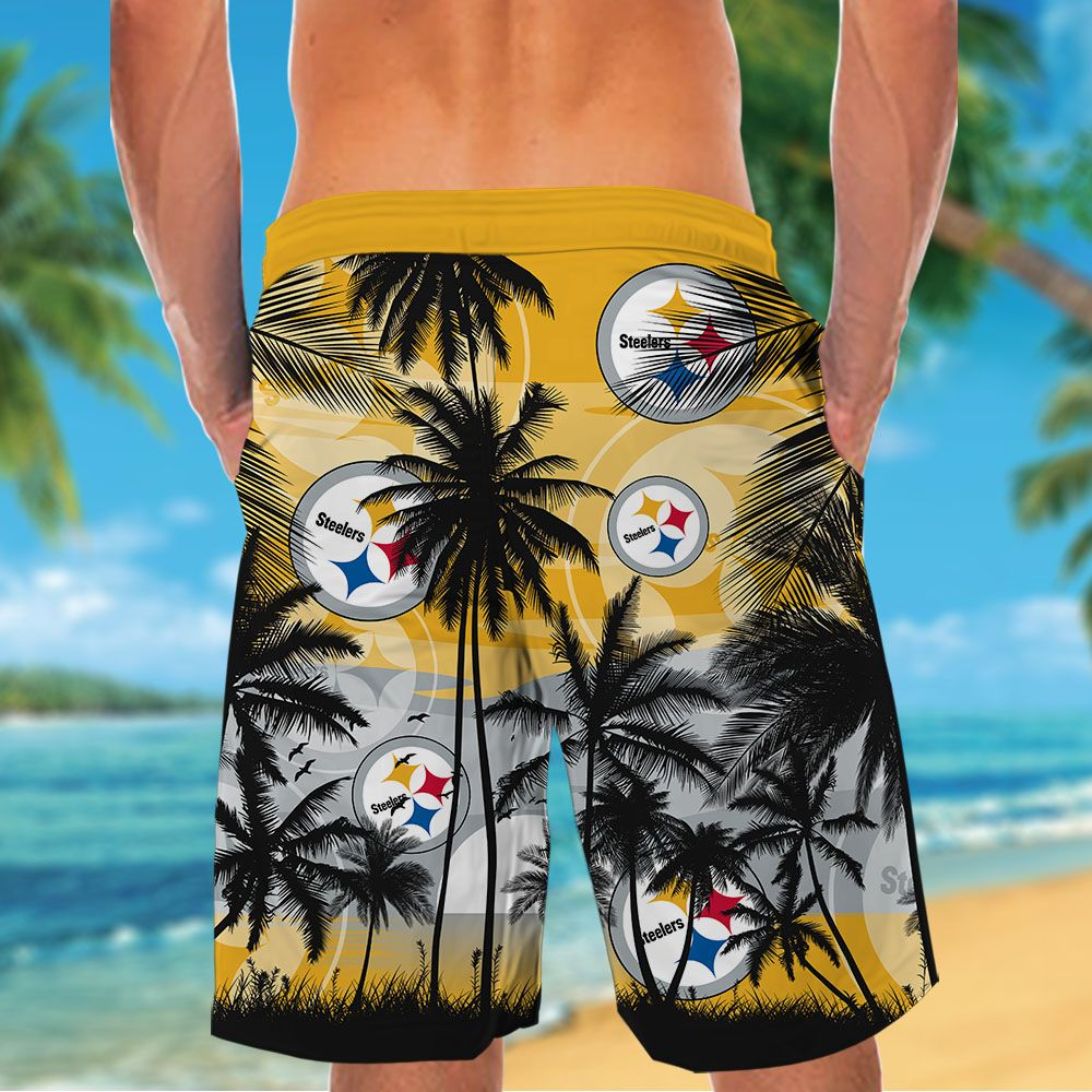 NFL Pittsburgh Steelers Tropical Hawaiian Shirt