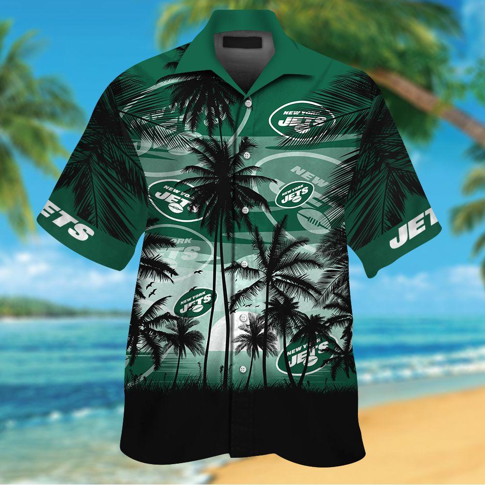 NFL New York Jets Tropical Hawaiian Shirt