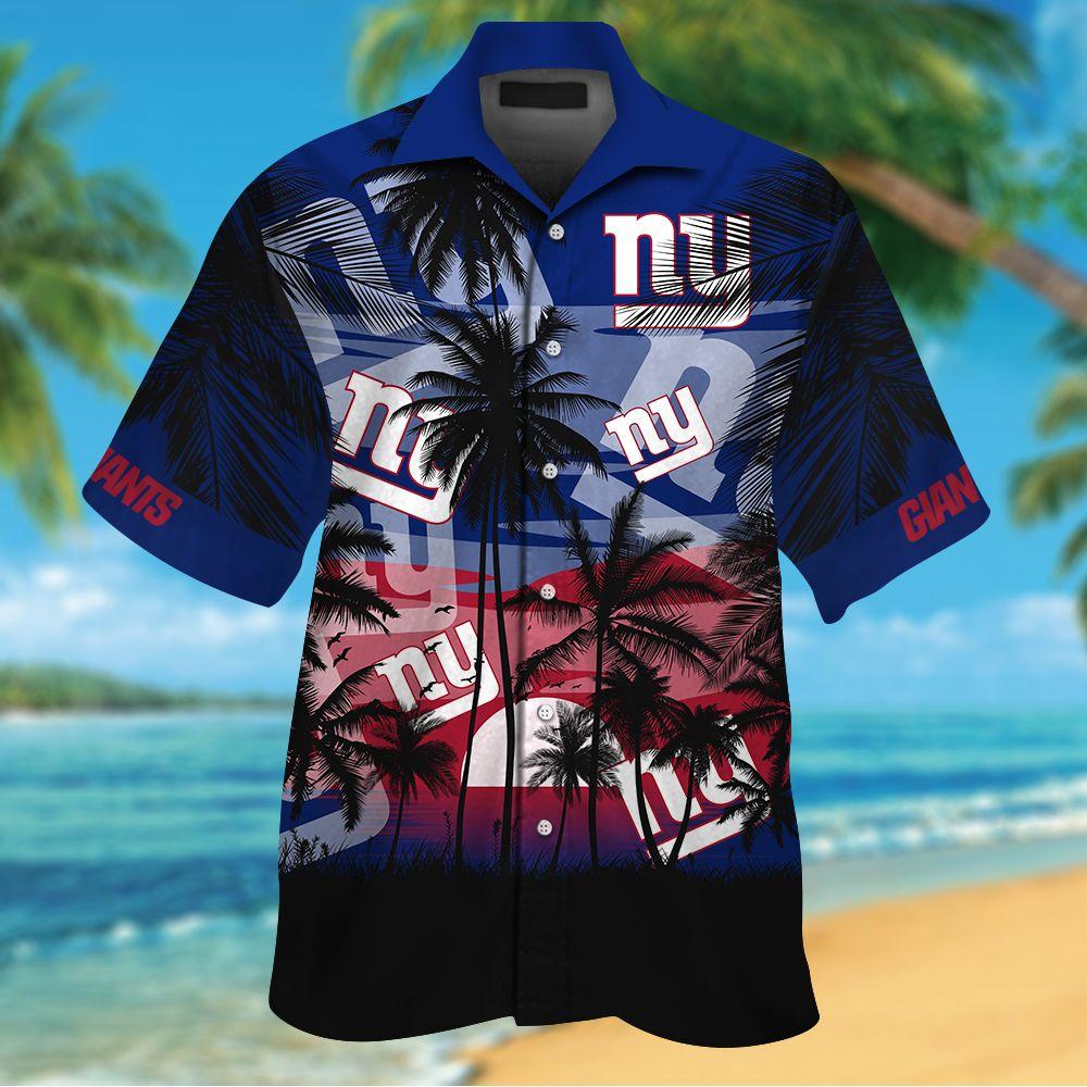 NFL New York Giants Tropical Hawaiian Shirt