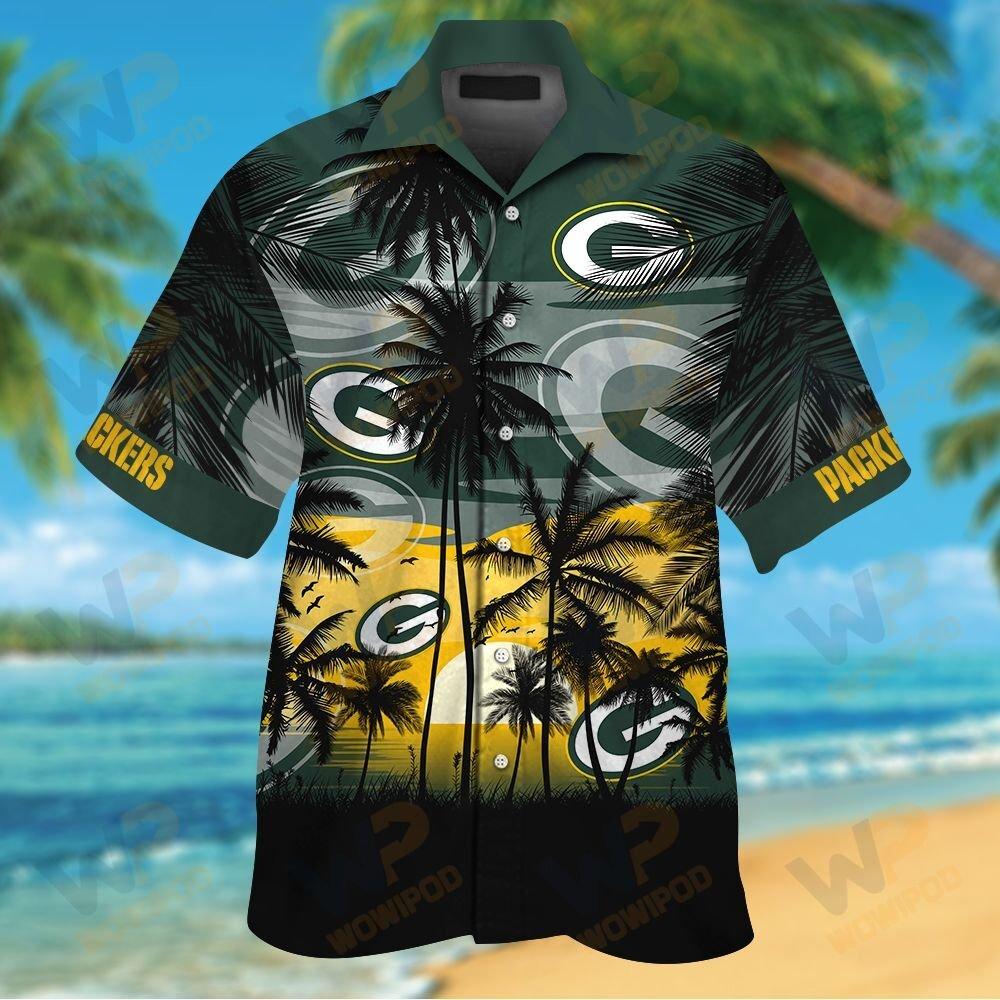 NFL Green Bay Packers Tropical Hawaiian Shirt