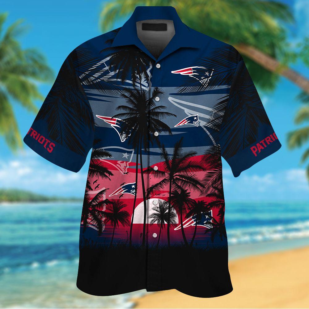 NFL New England Patriots Tropical Hawaiian Shirt