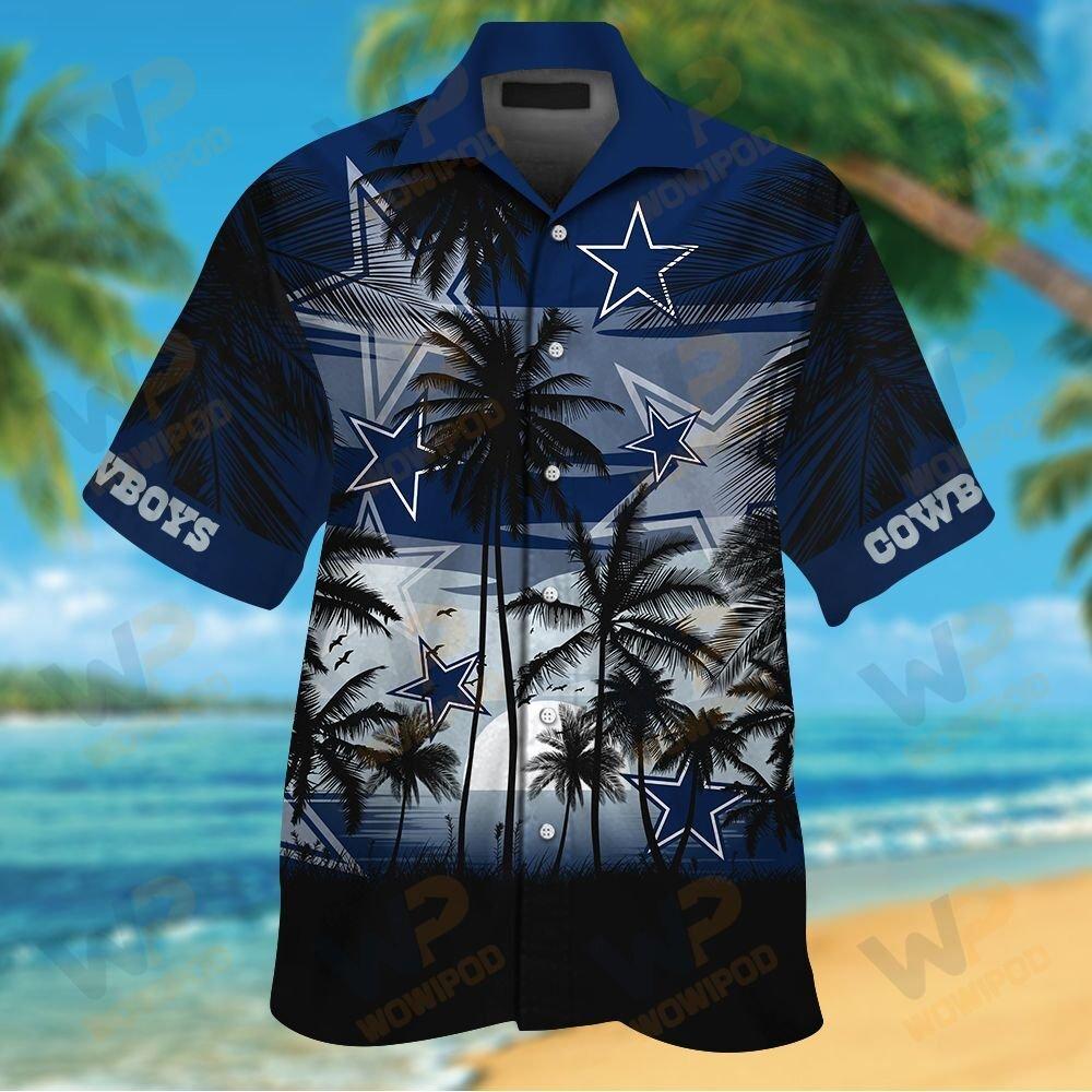 NFL Dallas Cowboys Tropical Hawaiian Shirt