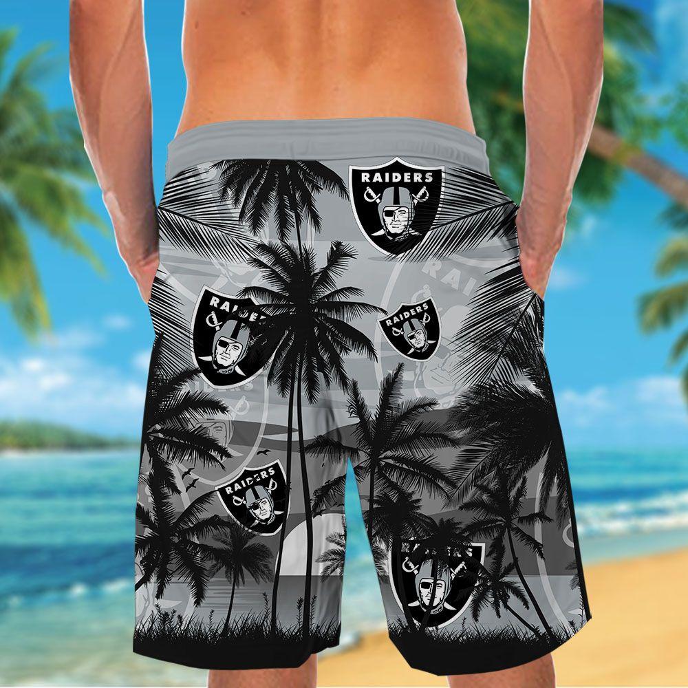 NFL Las Vegas Raiders Tropical Hawaiian Shirt