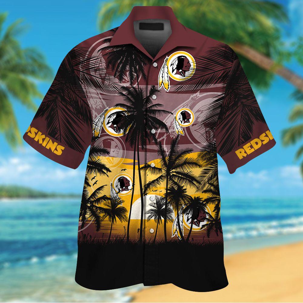 NFL Washington Redskins Tropical Hawaiian Shirt