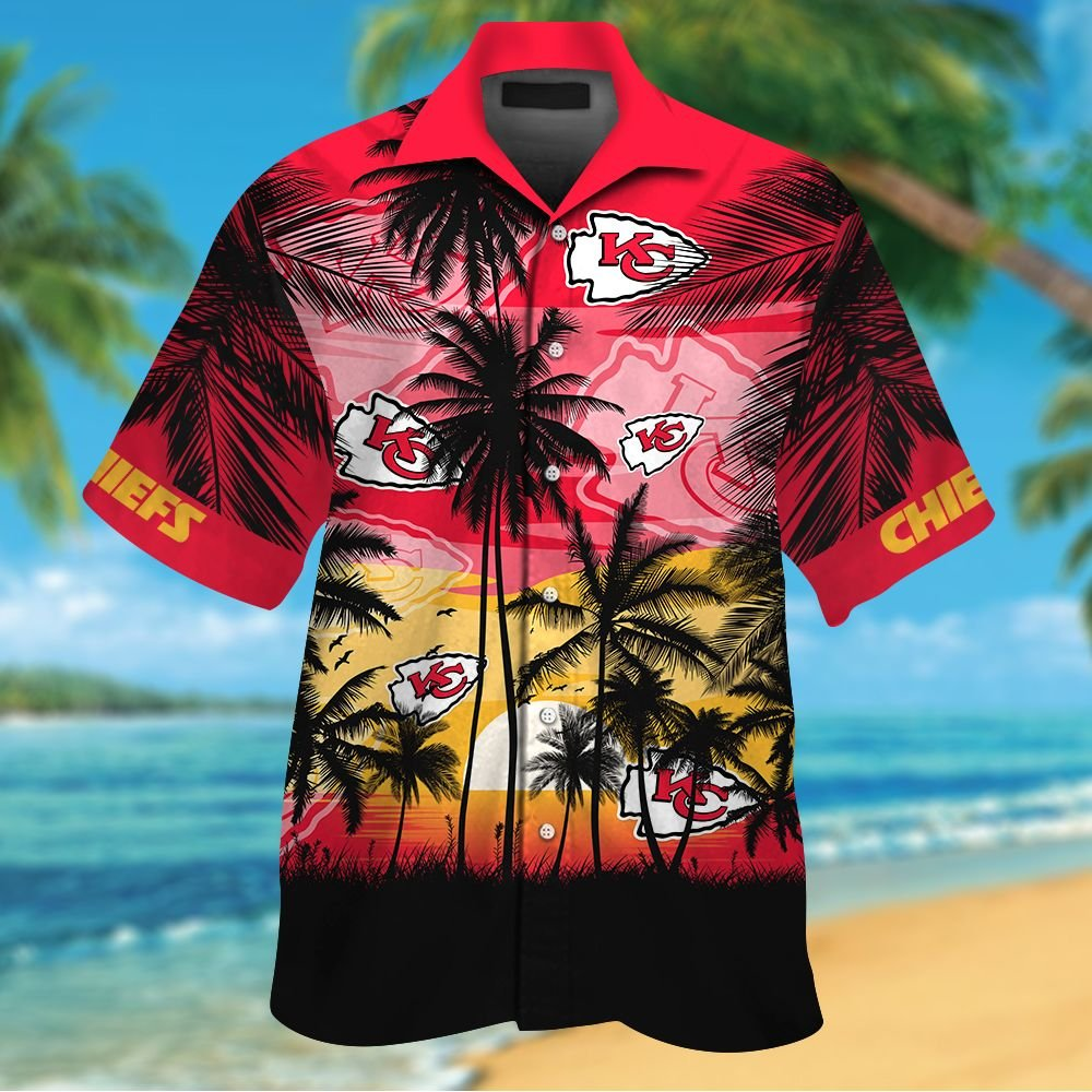 NFL Kansas City Chiefs Tropical Hawaiian Shirt