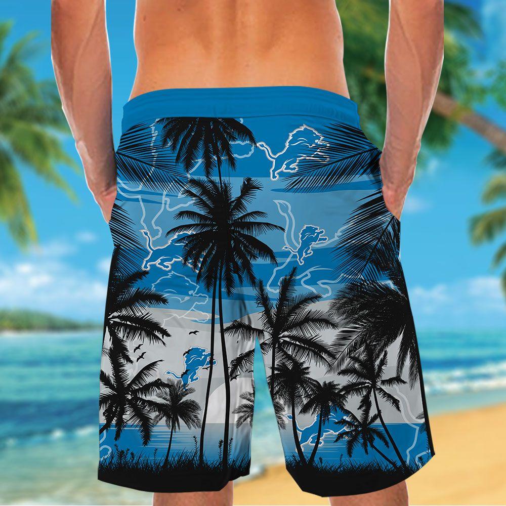 NFL Detroit Lions Tropical Hawaiian Shirt