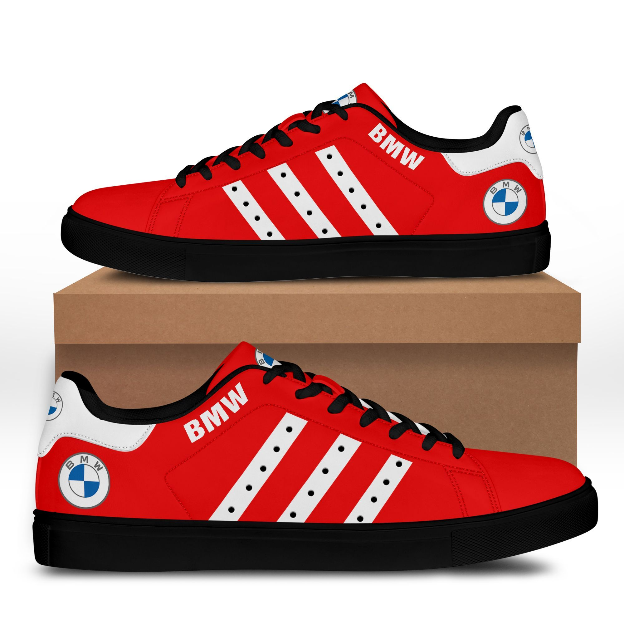 BMW red version Stan Smith Shoes