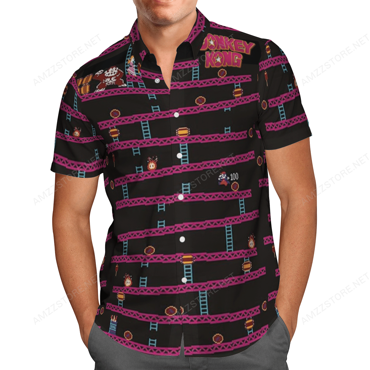 Donkey Kong Game Hawaiian Shirt