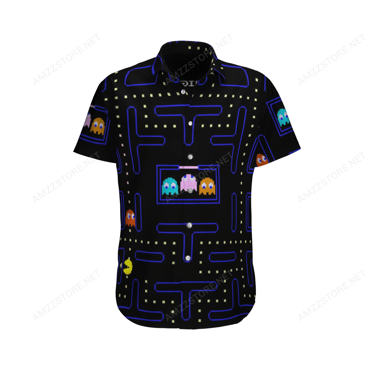 Pac-man Video game Hawaiian Shirt