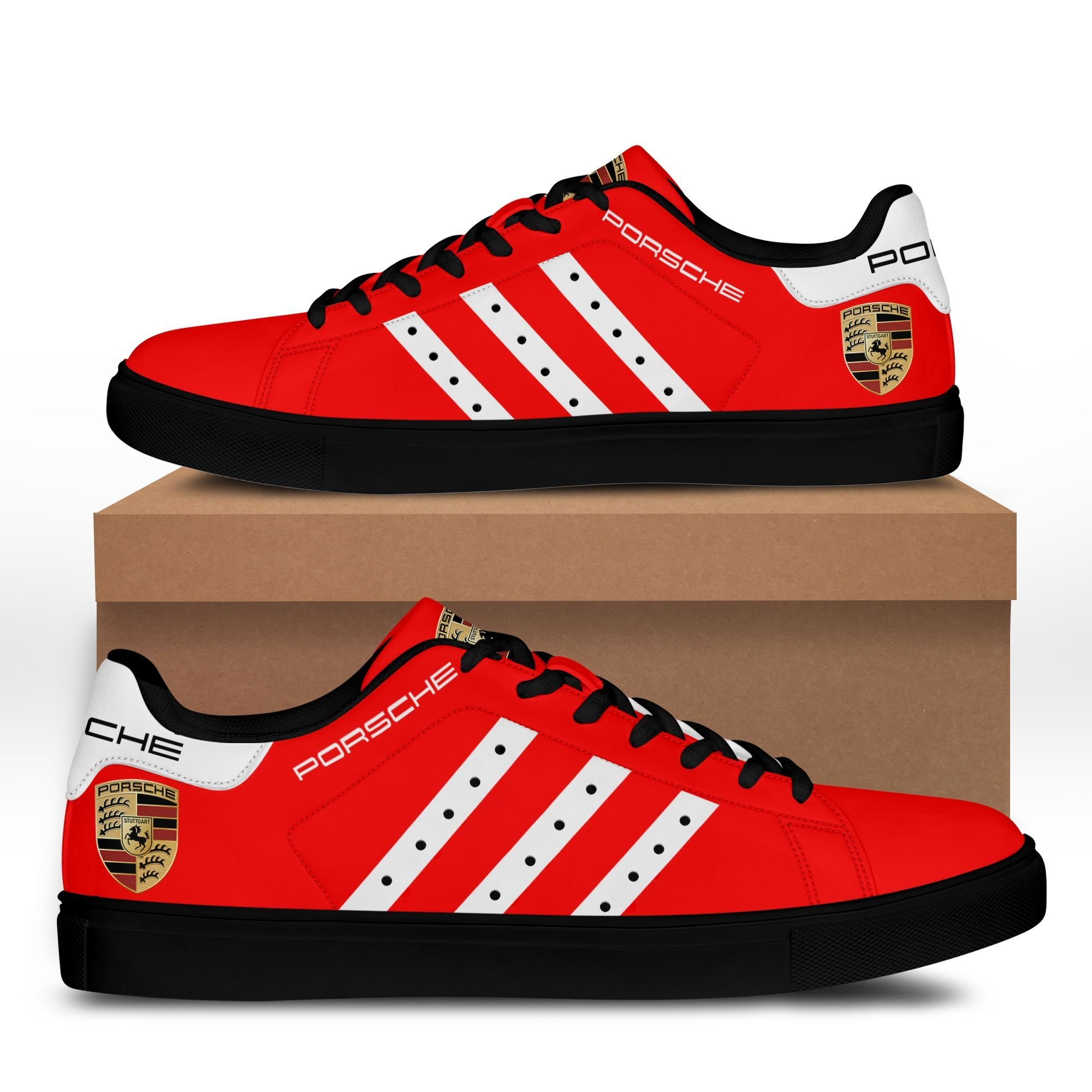 PORSCHE 911 red version Stan Smith Shoes