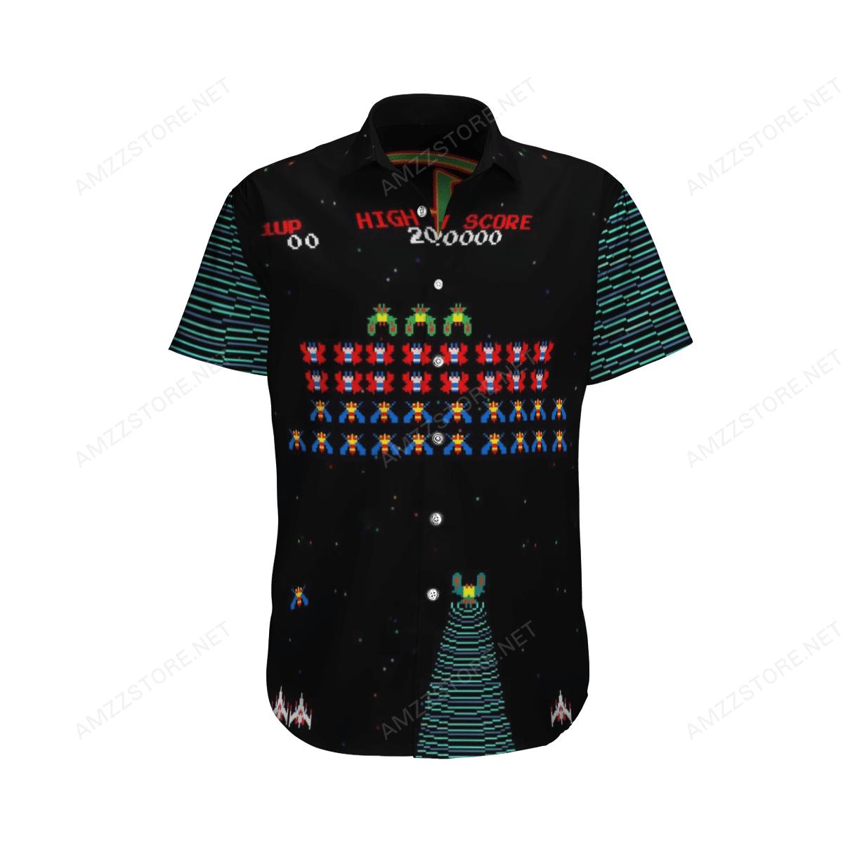 Retro Game Galaga Arcade game Hawaiian Shirt