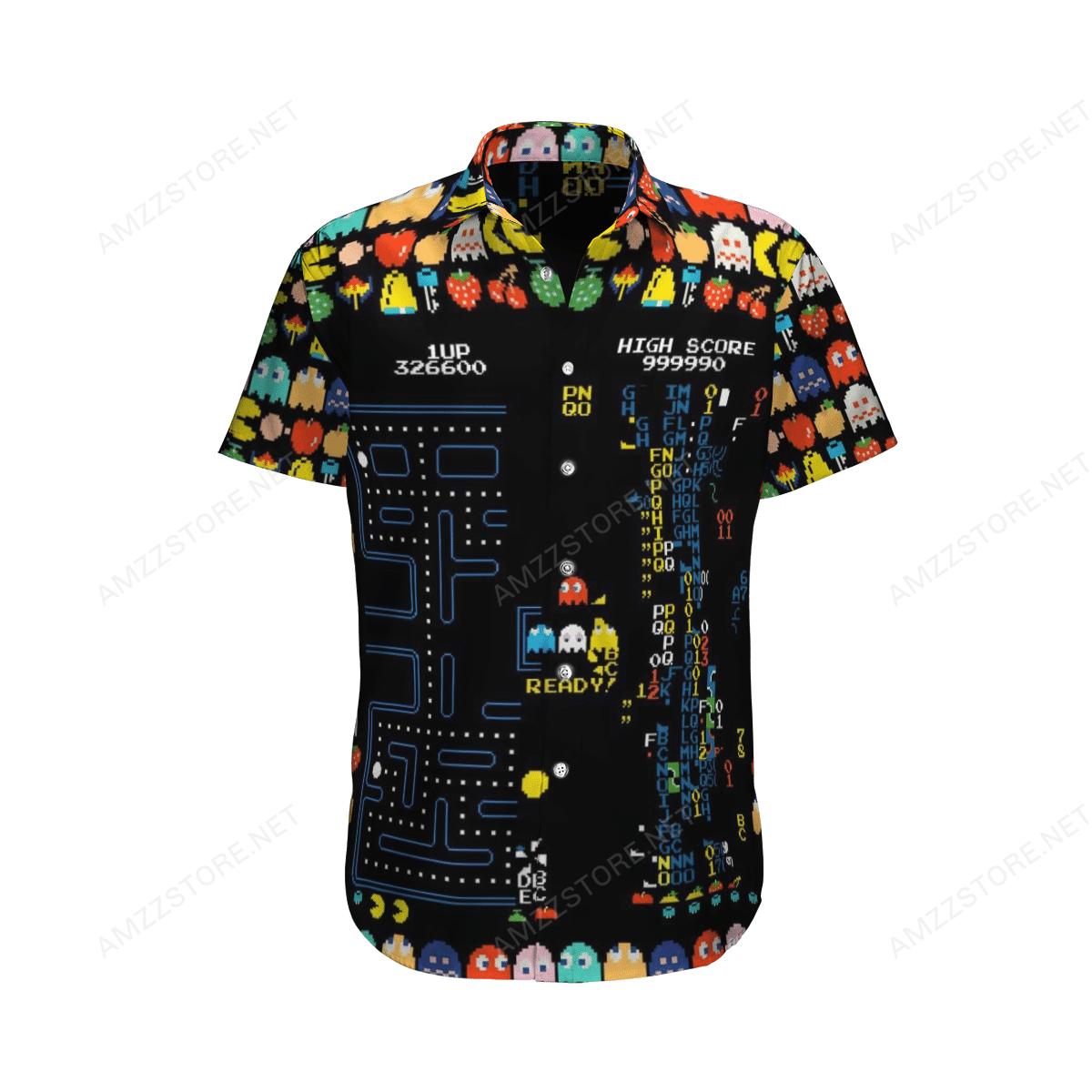 Retro Game Pacman Hawaiian Shirt