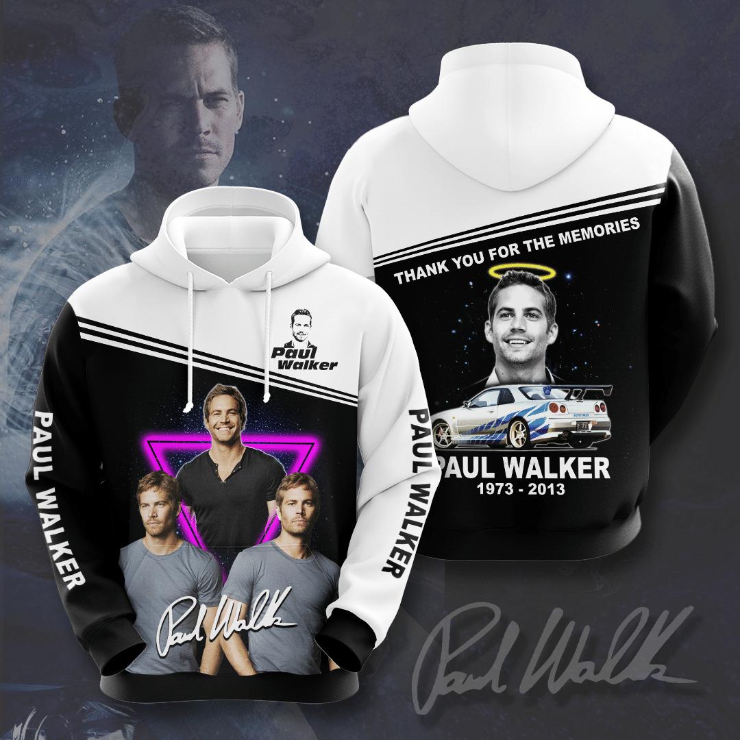 Paul Walker FF Thanks for memory 3D Hoodie
