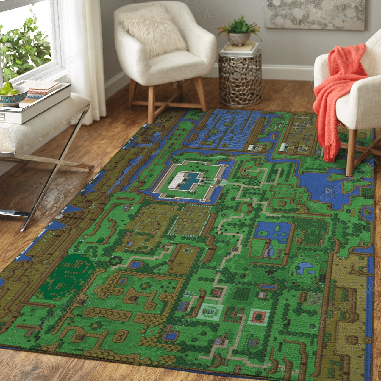 Legend of Zelda Full map Carpet Rug
