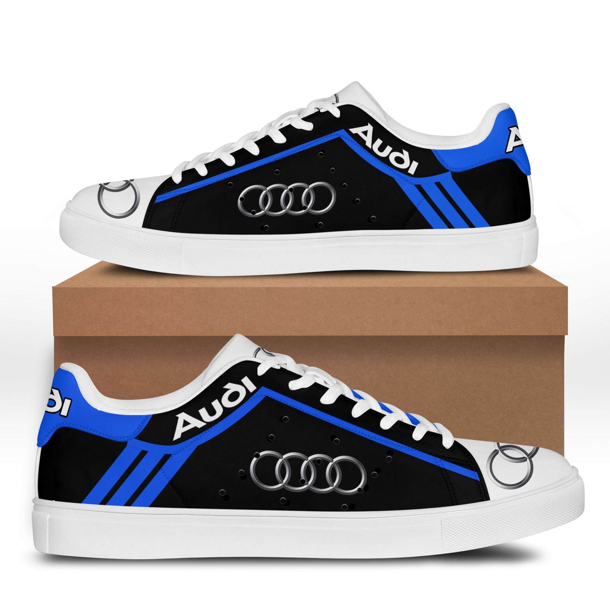 Audi auto black Blue Stan Smith Sneaker