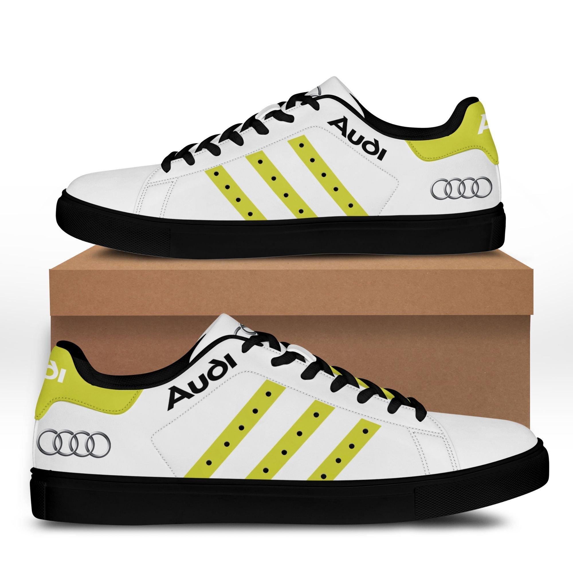 Audi auto Premium yellow white Stan Smith Shoes