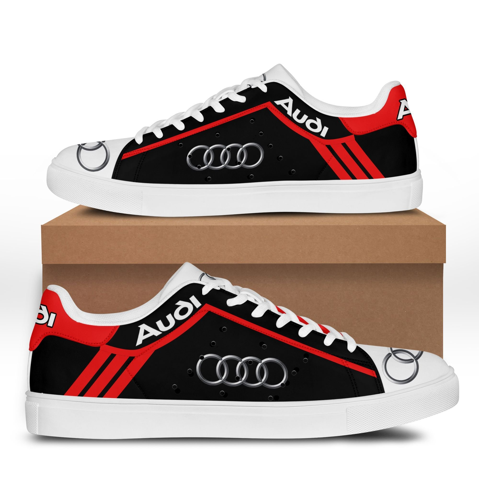 Audi black and white Stan Smith Shoes Sneaker