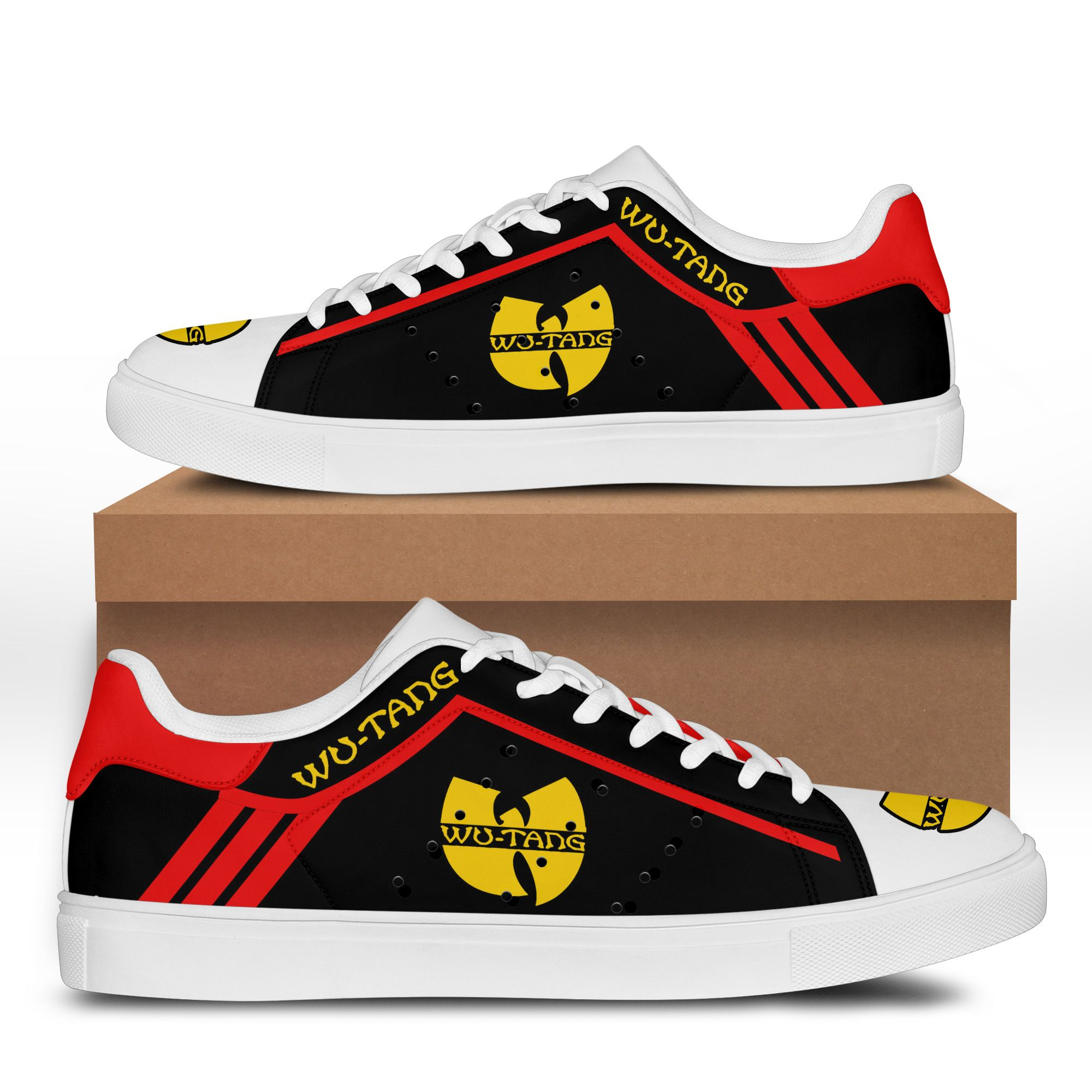 Wu-Tang Red line black Stan Smith Shoes