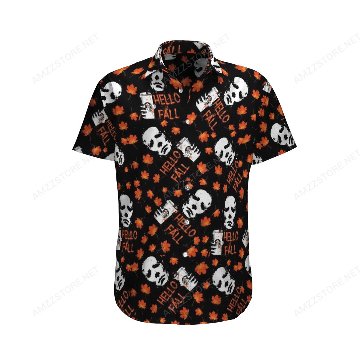 Halloween Michael Myers Hello Fall Hawaiian Shirt