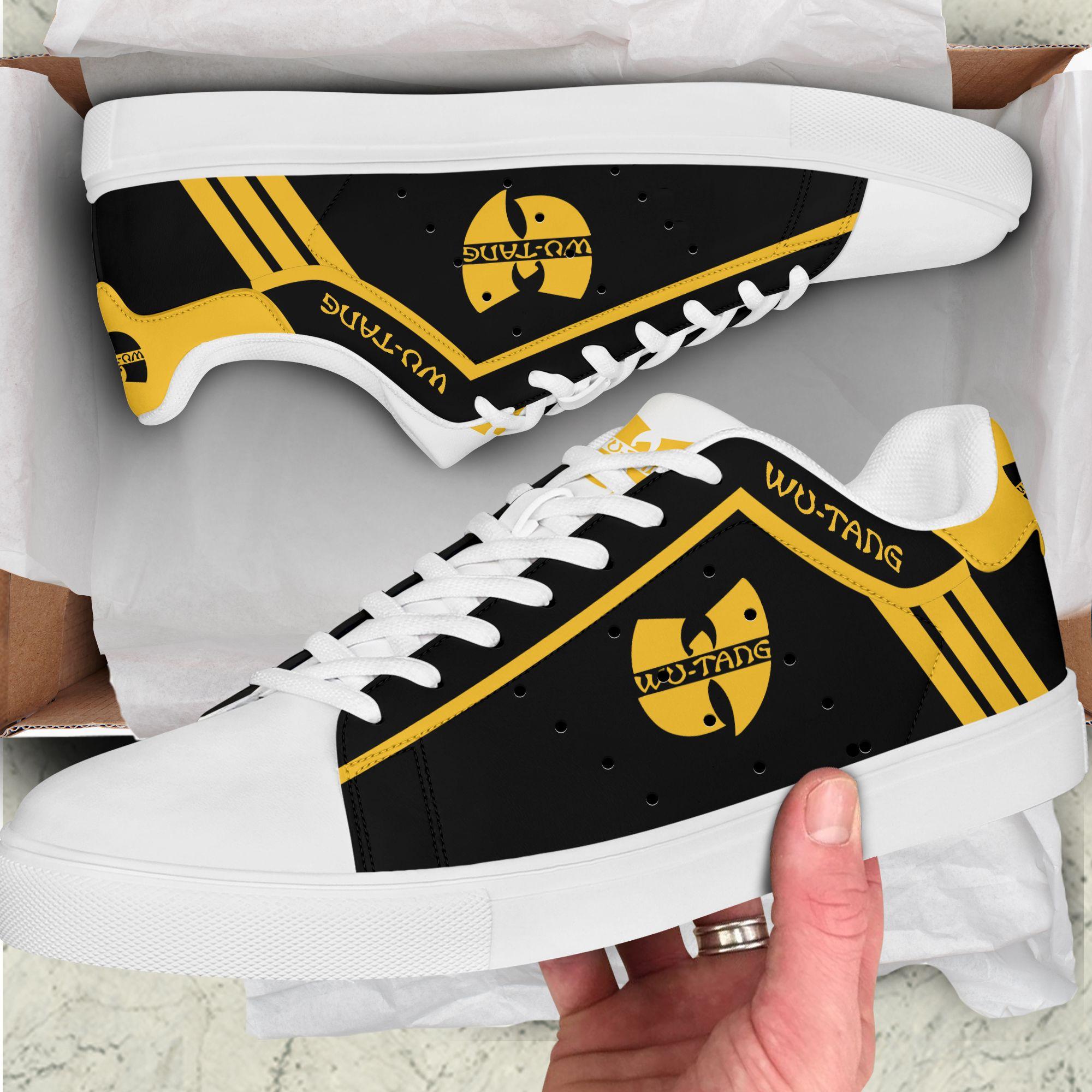 Wu-Tang hip hop Yellow line black Stan Smith Shoes