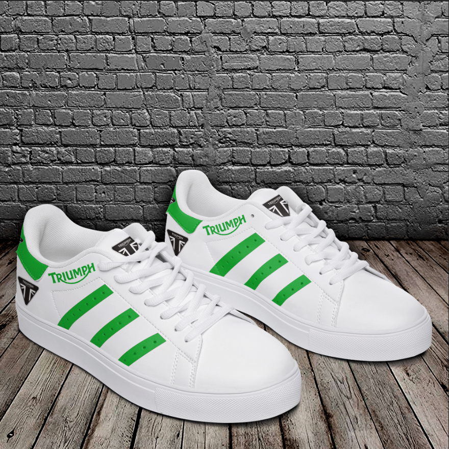 TRIUMPH GREEN LINES IN WHITE STAN SMITH SHOES