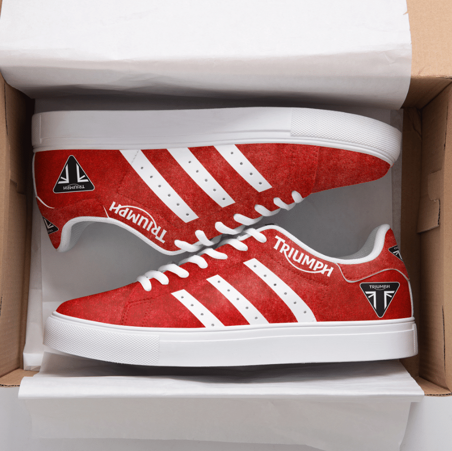 TRIUMPH RED STAN SMITH SHOES