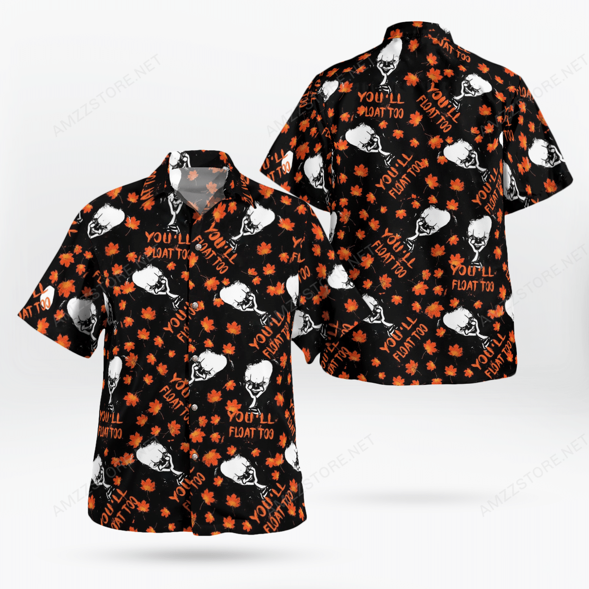 Pennywise IT You will float too maple leaf Hawaiian Shirt