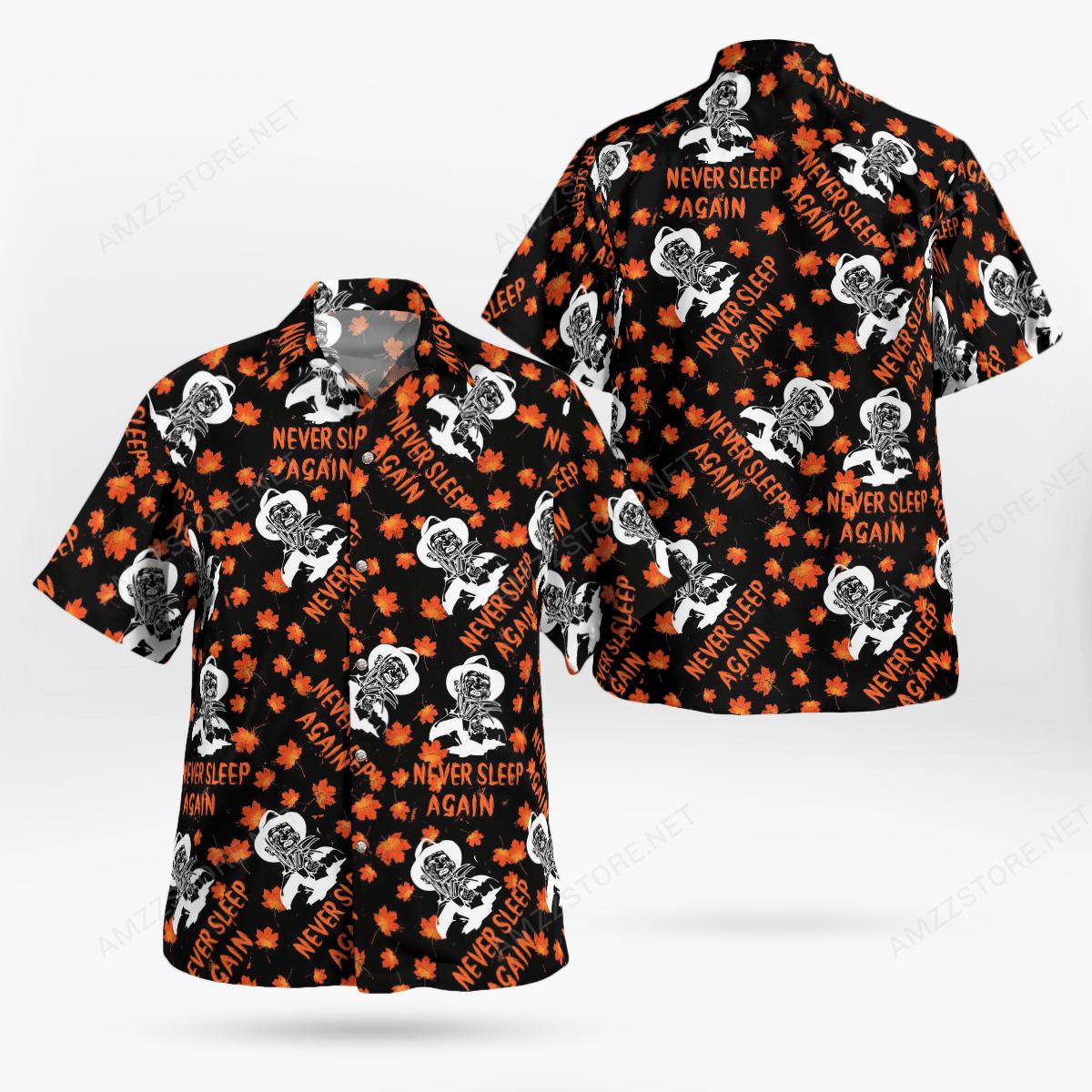 Freddy Krueger never sleep again maple leaf Hawaiian Shirt